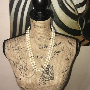 Chico's Flora Pearl Single Strand Necklace